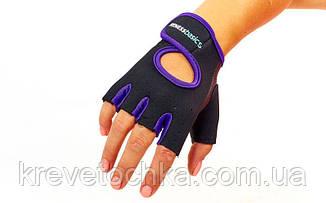 Синие перчатки Fitnes Gloves, фото 2