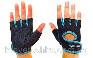 Синие перчатки Fitnes Gloves, фото 3