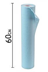Простынь на кушетку,спанбонд 0,6 * 100 м  голубая
