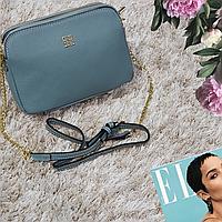Женская маленькая сумка голубая Givenchi из натуральной кожи, фото 1