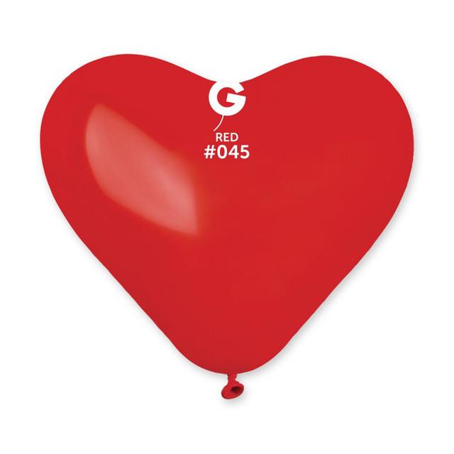шарики сердце красного цвета 10 дюймов
