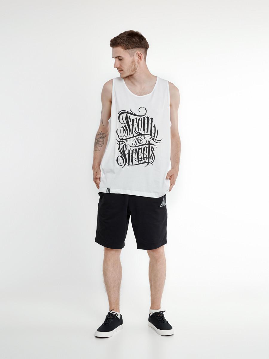 Майка мужская белая FS WHT P Urban Planet (футболки, чоловіча майка, о