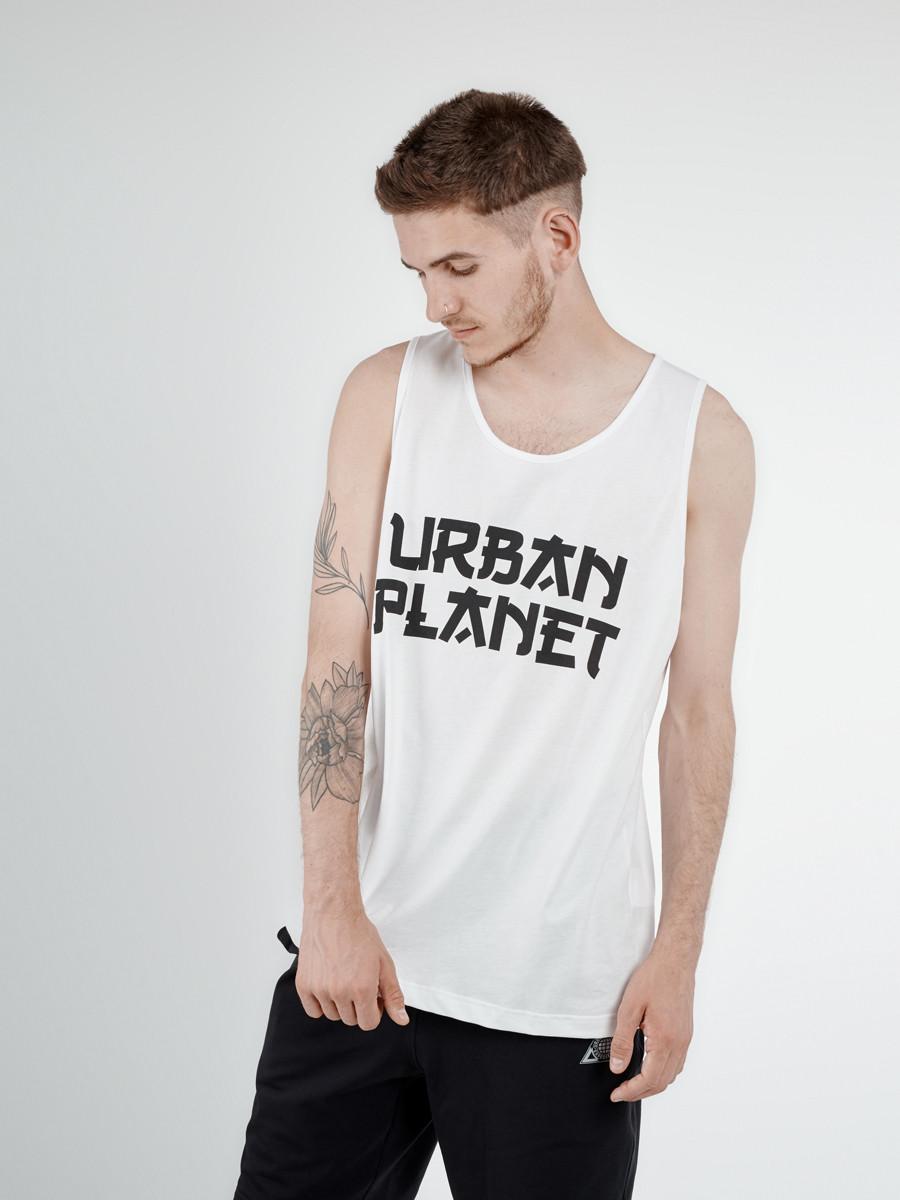 Майка мужская белая JPN WHT Urban Planet (футболки, чоловіча майка, од