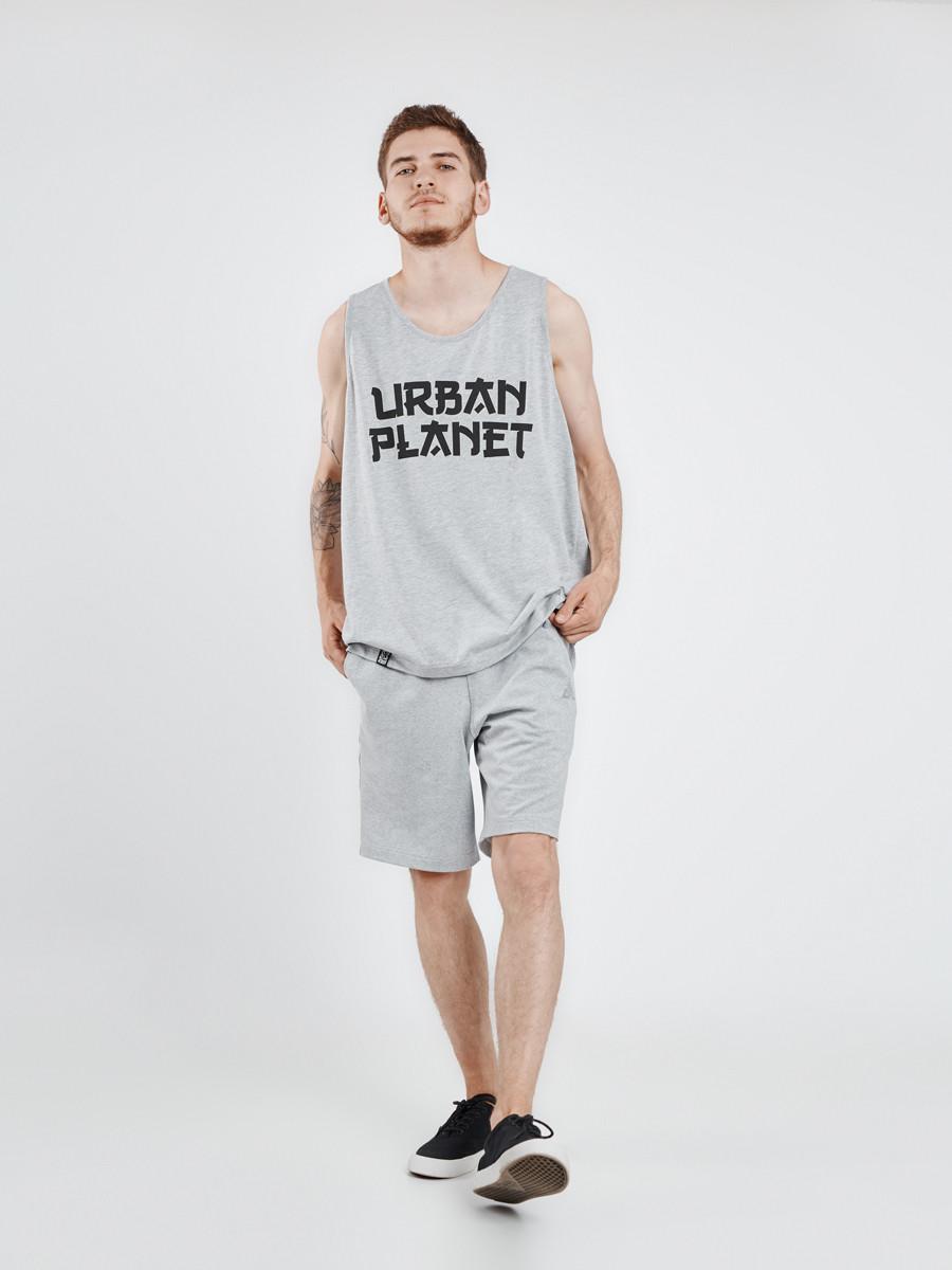 Майка мужская серая JPN MEL Urban Planet (футболки, чоловіча майка, од