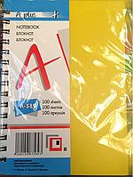 Тетрадьна спирале А5 № А-589 пластиковая обложка с закладками (100 листов)