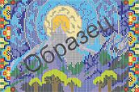 Схема для вышивки бисером «Пейзаж»