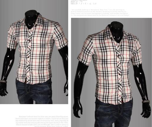 d40bca6f4f4292b ... Мужская летняя рубашка с коротким рукавом M-XXL код 65 белый+синий +  красный
