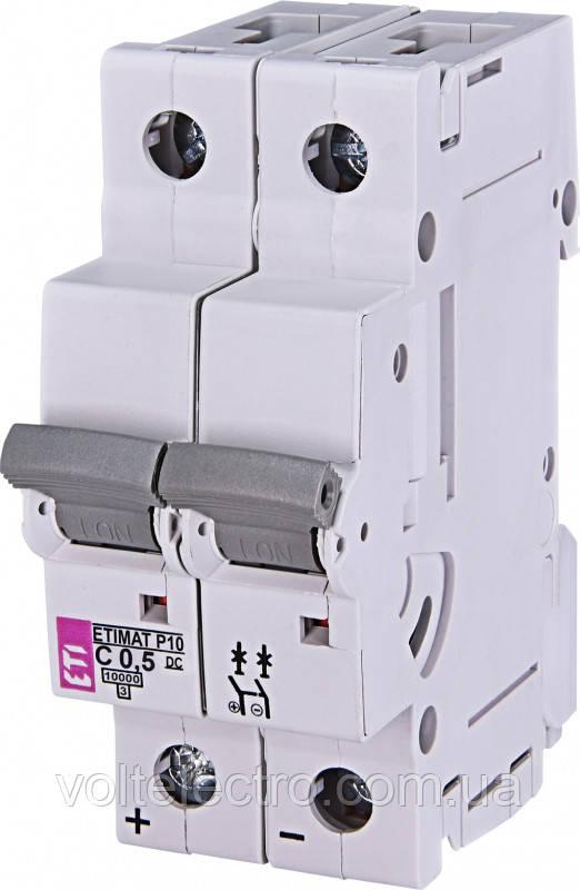 Автоматичний вимикач ETIMAT P10-DC 10 кА 10A 2P кат.C