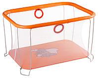 Манеж Qvatro Солнышко-02 мелкая сетка  оранжевый (слон dumbo)