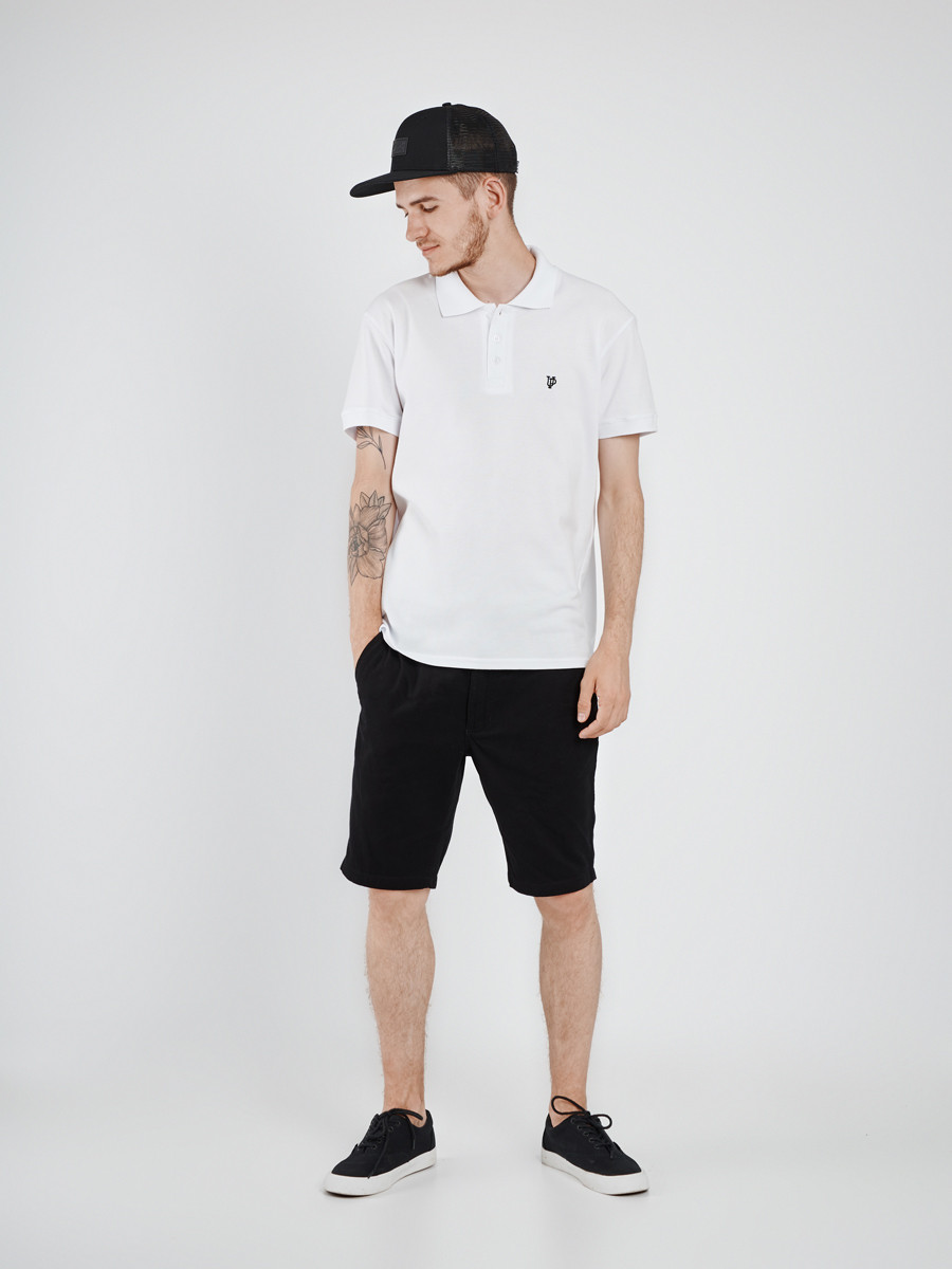 Футболка мужская поло белая WHITE Urban Planet (футболки, чоловіча фут
