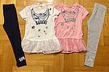 Летний костюм для девочек нрядная футболка и лосины, р 110-128 Венгрия  Emma girl 7799, фото 4