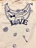Летний костюм для девочек нрядная футболка и лосины, р 110-128 Венгрия  Emma girl 7799, фото 5
