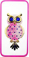 Чехол-накладка TOTO TPU Case Decorative Stones IPhone 7 Plus/8 Plus Owl Pink, фото 1