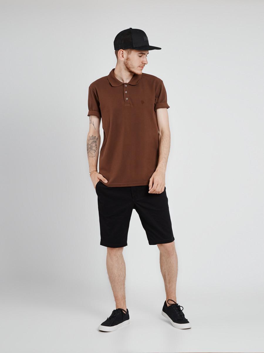 1667abb668d Футболка мужская поло коричневая BR Urban Planet (футболки
