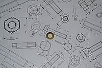 Шайба плоская латунная Ф5 DIN 125, фото 1