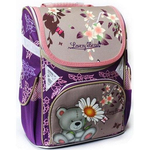 Рюкзак школьный каркасный Class Lovely Bear 9602