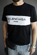 Мужская футболка Balenciaga Paris.Черно-белая, фото 3