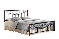 "Кровать двухспальная ""Ленора""1600х2000каштан"