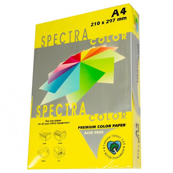 Бумага цветная А4, 160 г/м2 - Spectra Color IT 210 Lemon, лимонный 25 листов
