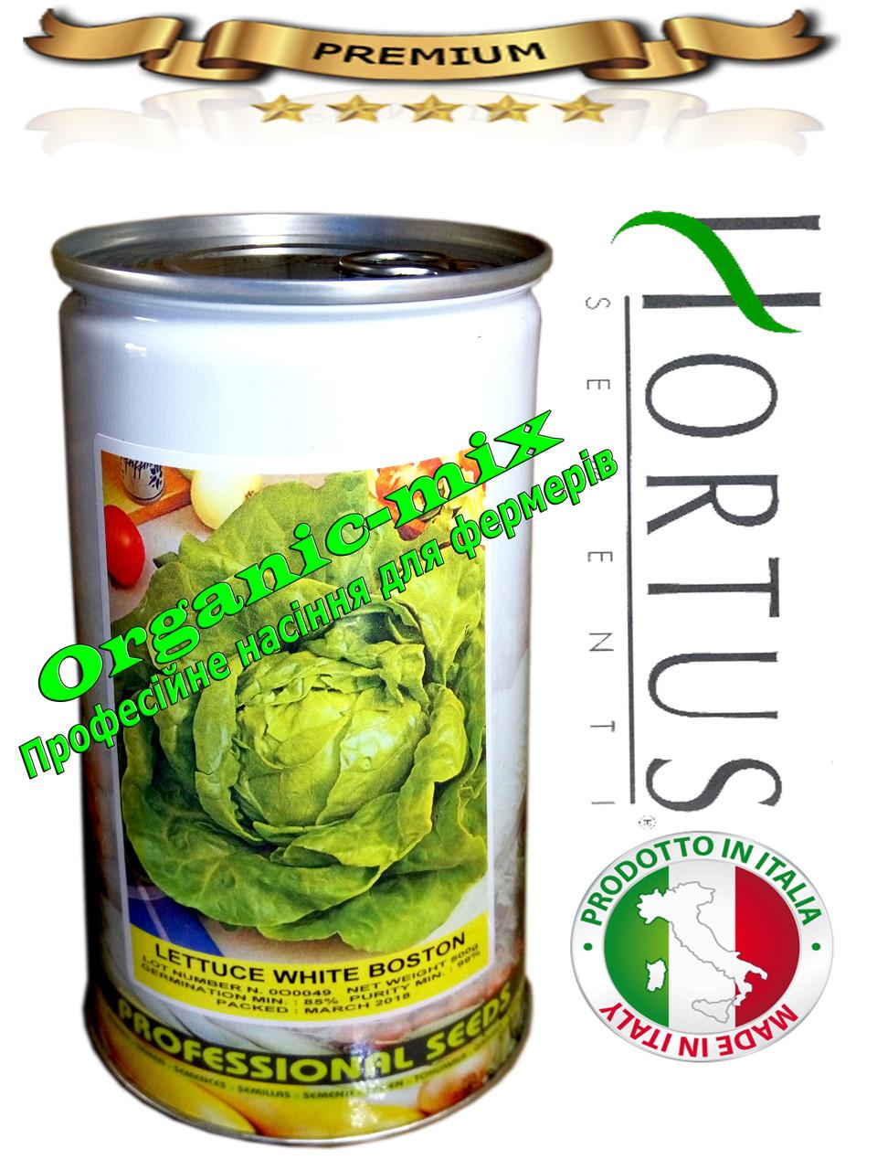 Салат кочанный ранний ВАЙТ БОСТОН / WHITE BOSTON ТМ «Hortus» (Италия), банка 500 грамм