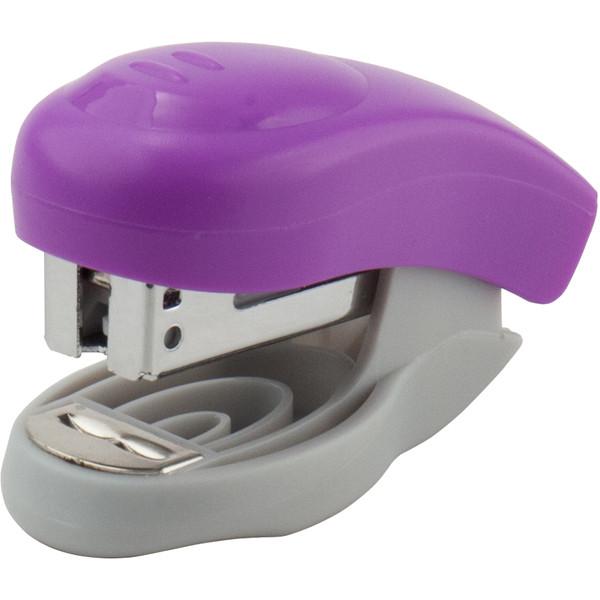 Степлер пластиковий до 10 аркушів фіолетовий Welle-2 Axent 4810-11-A скоба №24/6