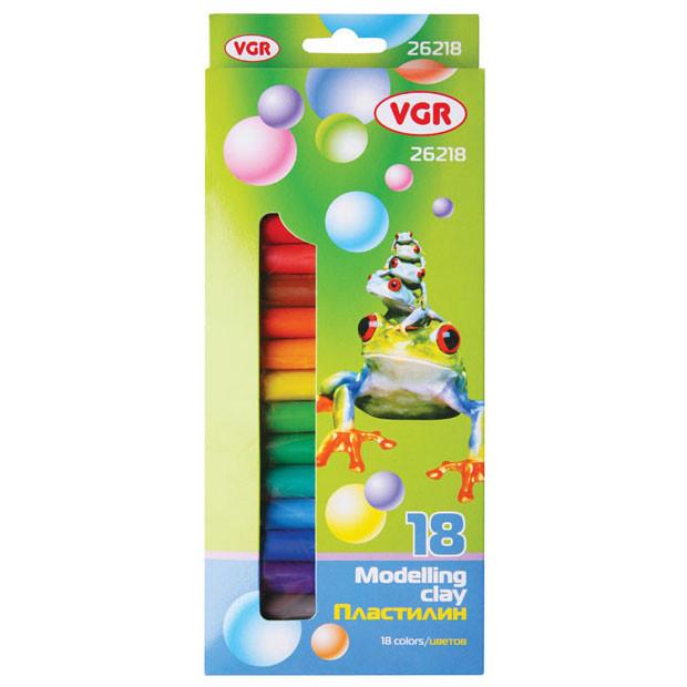 Пластилин VGR 26218 18 цв 300 г
