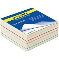 """Блок бумаги для заметок Buromax BM.2245 не клееный 90*90*40 """"Радуга"""""""
