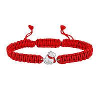 Браслет с cеребряным украшением Uma&Umi Мишка в шарфике Красный (301100974)