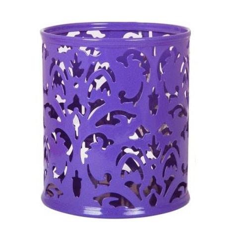 Подставка для ручек Buromax Barocco BM.6204-07 металлическая круглая фиолетовая