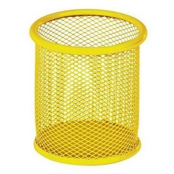 Подставка для ручек Zibi ZB.3100-08 металлическая круглая желтая