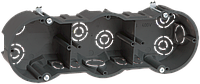 Коробка КМ40009 установочная 3х местная для твердых стен 212х70х45 с саморезами IEK