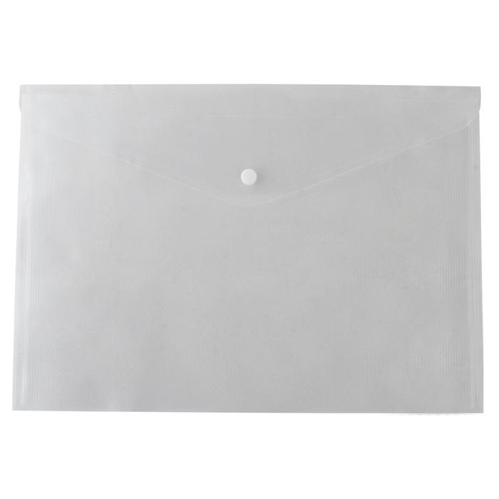 Папка-конверт, на кнопке, А4, глянцевый, прозрачная, Buromax BM.3926-00