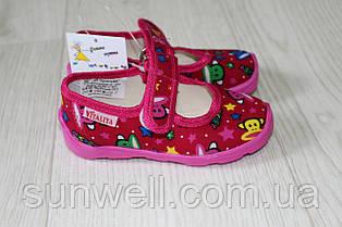 Тапочки в садик на девочку, обувь Vitaliya, ТМ Виталия Украина, р.19-22.5