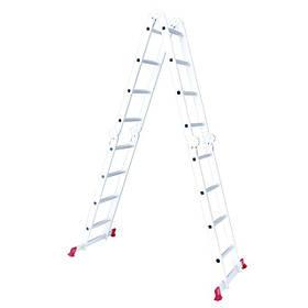 Лестница алюминиевая мультифункциональная трансформер 4*4ступ. 4.75м (LT-0029 Intertool)