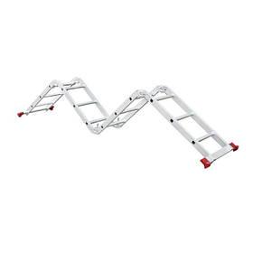 Лестница алюминиевая мультифункциональная трансформер 4*3ступ., 3.70м (LT-0030 Intertool)