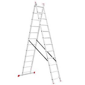 Лестница алюминиевая 2-х секц. универс. раскл. 2*12ступ. 5.93м (LT-0212 Intertool)