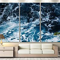 Картина - Волны в океане, для декора ванной комнаты