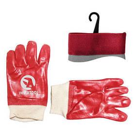 Перчатка маслостойкая х/б трикотаж PVC (красная) (ящик 120пар) (Black&Decker SP-0006W Intertool)