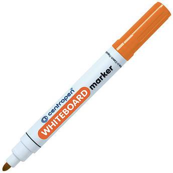 Маркер для магнітних сухостираємих дошок, помаранчевий, круглий пишучий вузол, Centropen 8559