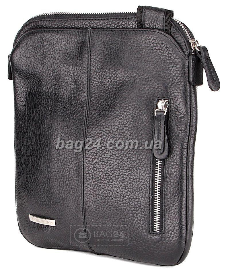 e69ae98f8c4e Кожаная мужская сумка VIP COLLECTION Украина 1440A flat, Черный