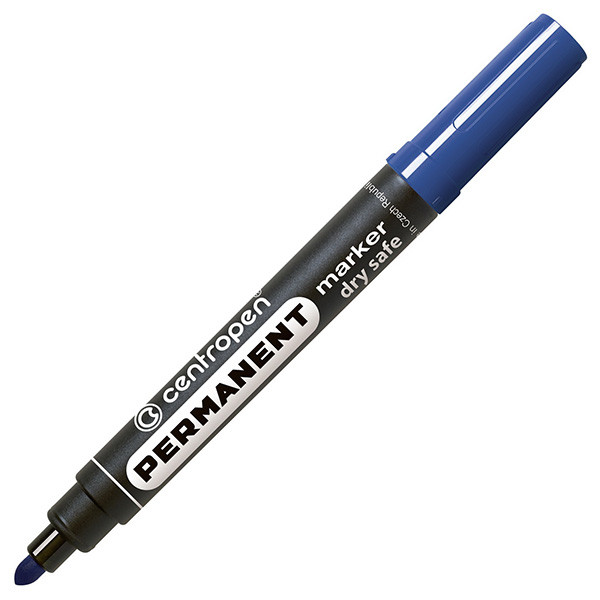 Маркер Centropen Permanent 8510 круглый 2,5 мм синий Dry Safe Ink