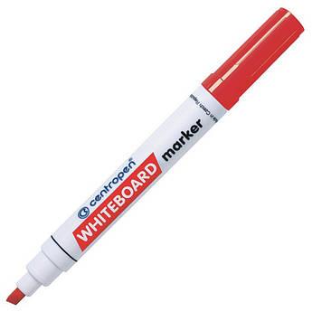 Маркер для магнітних сухостираємих дошок, червоний, клиноподібний пишучий вузол, Centropen 8569