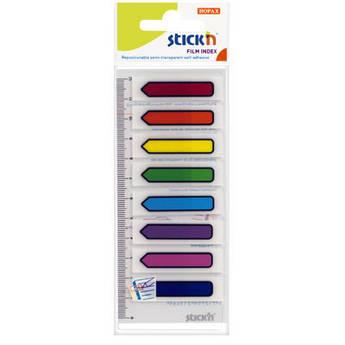 Закладки с клейким слоем Hopax 45*12 неон разноцветный 120 листов 21466