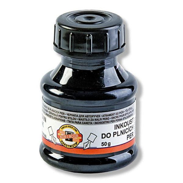 Чернила черные 50 мл, на спиртовой основе Koh-i-noor 141505