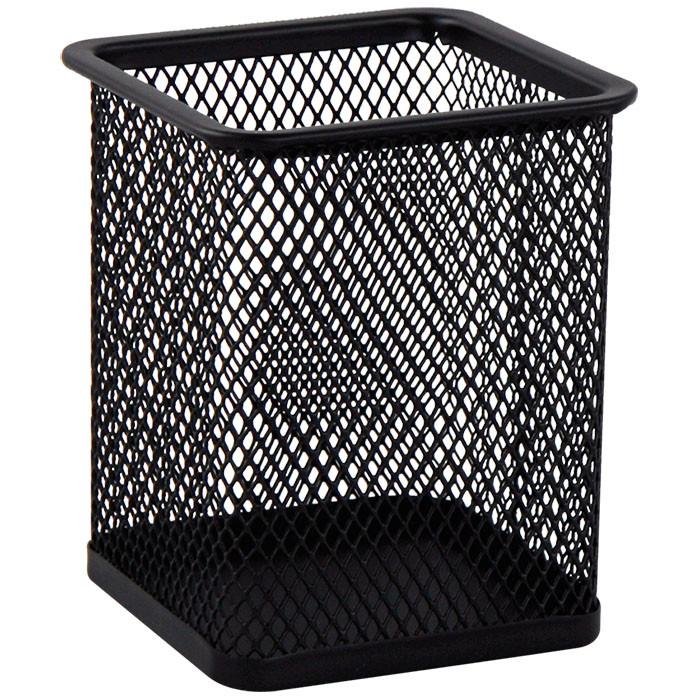 Подставка для ручек Buromax BM.6201-01 металлическая квадратная черная