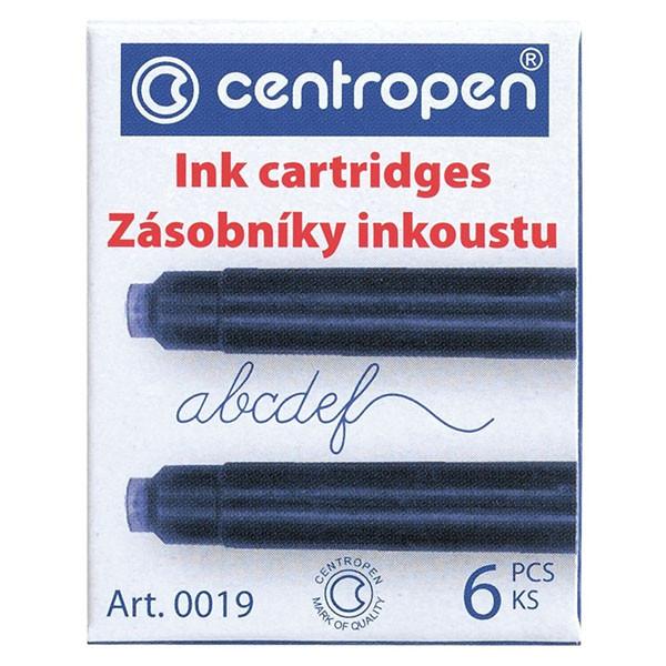 Набор картриджей для перьвых ручек, синий цвет  6 шт/уп, Centropen 0019