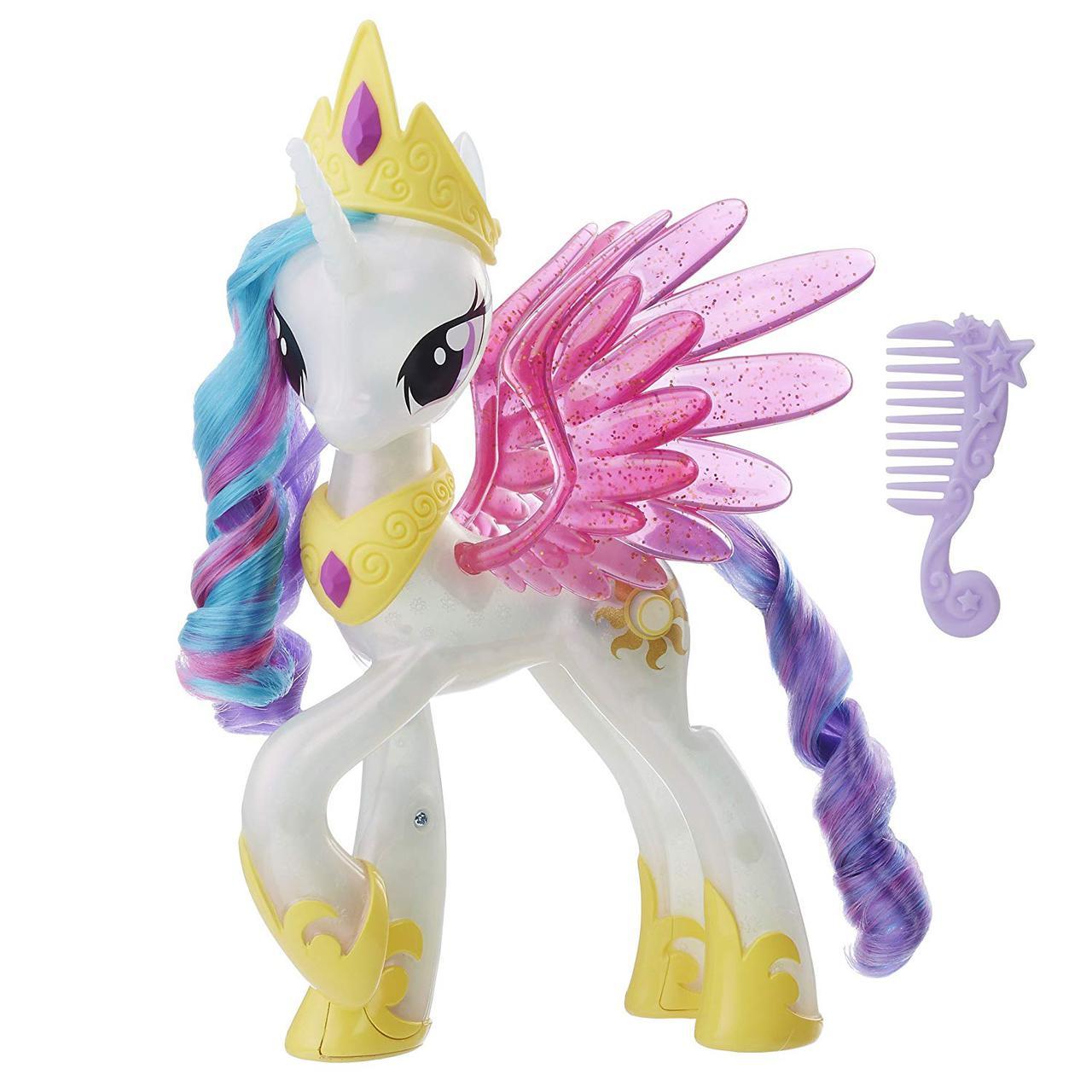Интерактивная принцесса Селестия с аксессуарами Светящаяся и Сверкающая My Little Pony Glitter Glow