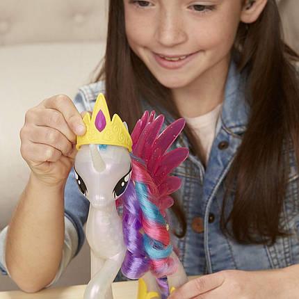 Интерактивная принцесса Селестия с аксессуарами Светящаяся и Сверкающая My Little Pony Glitter Glow, фото 2