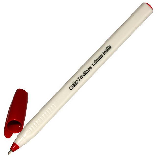 Ручка масляная Cello Tri-Mate красная 1,0 мм