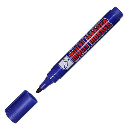 Маркер Crown Permanent CPM-800 круглый 2-3 мм синий
